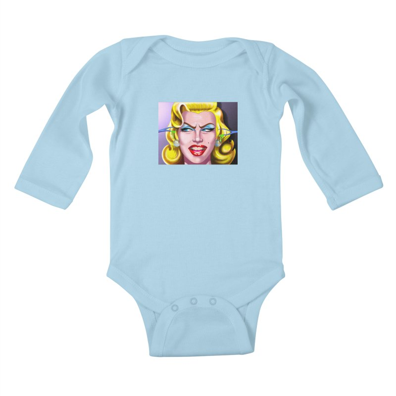 Marilyn Kids Baby Longsleeve Bodysuit by philscarr's Artist Shop