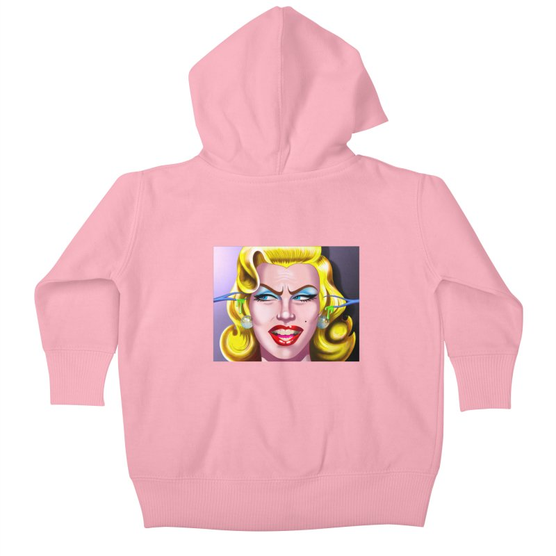 Marilyn Kids Baby Zip-Up Hoody by philscarr's Artist Shop