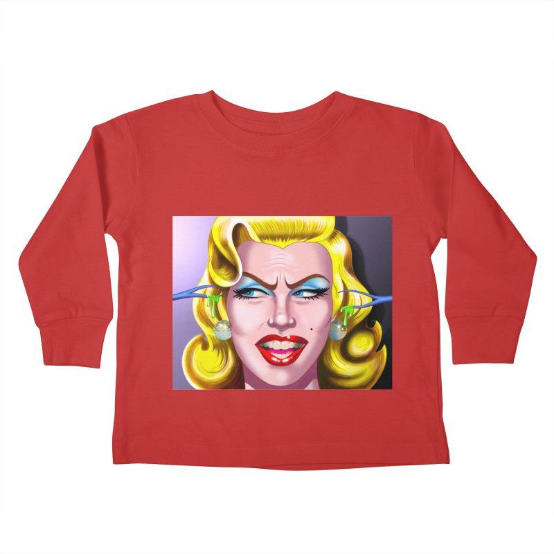 Marilyn Kids Toddler Longsleeve T-Shirt by philscarr's Artist Shop