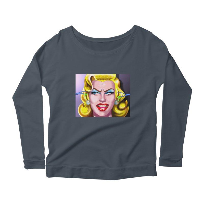 Marilyn Women's Scoop Neck Longsleeve T-Shirt by philscarr's Artist Shop
