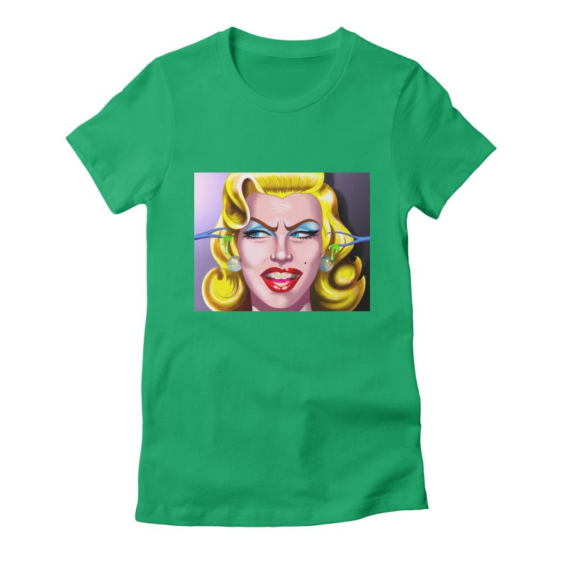Marilyn Women's Fitted T-Shirt by philscarr's Artist Shop