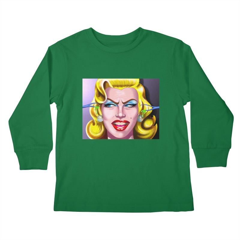 Marilyn Kids Longsleeve T-Shirt by philscarr's Artist Shop