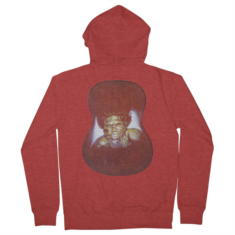 Aboriginal Men's French Terry Zip-Up Hoody by philscarr's Artist Shop