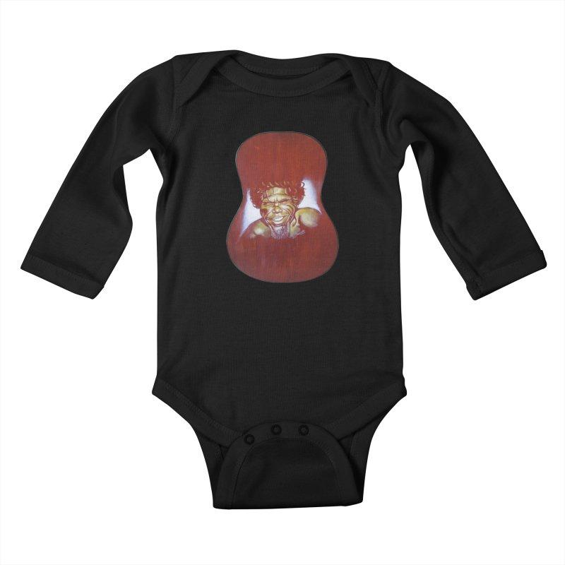 Aboriginal Kids Baby Longsleeve Bodysuit by philscarr's Artist Shop