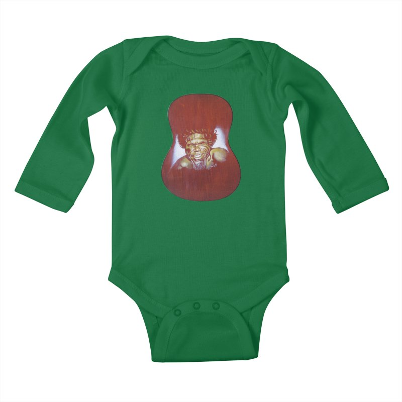Aboriginal Kids Baby Longsleeve Bodysuit by philscarr's Artist Shop