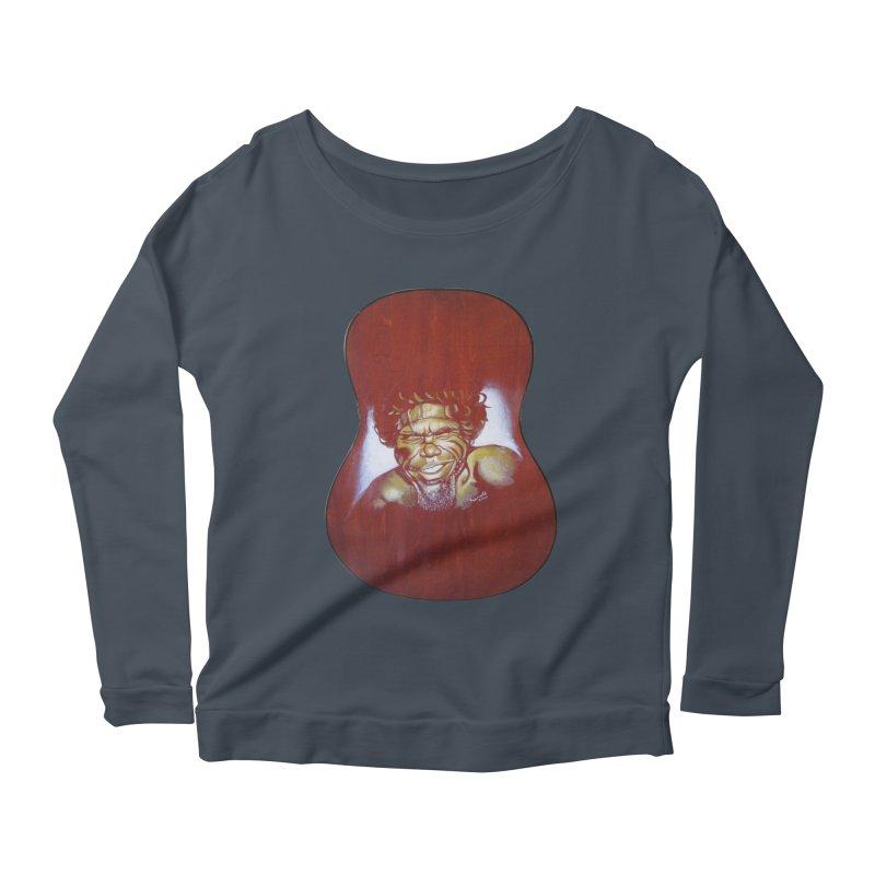 Aboriginal Women's Scoop Neck Longsleeve T-Shirt by philscarr's Artist Shop