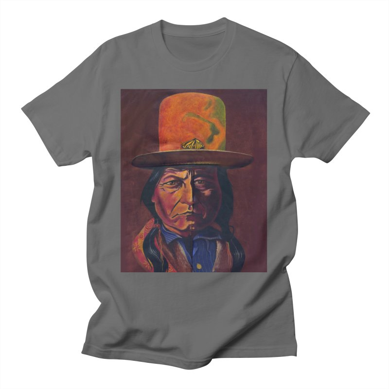 Sitting Bull (Tatanka Iyotake) Men's T-Shirt by philscarr's Artist Shop