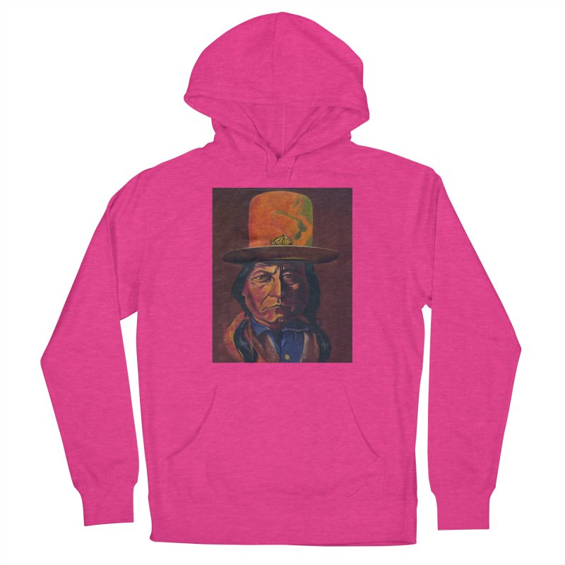 Sitting Bull (Tatanka Iyotake) Women's French Terry Pullover Hoody by philscarr's Artist Shop
