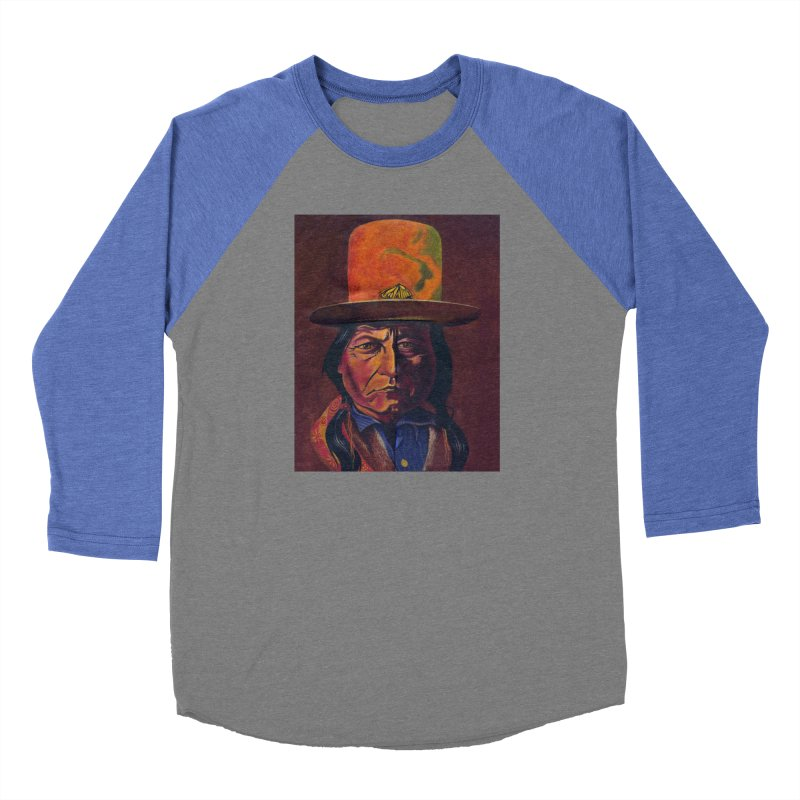 Sitting Bull (Tatanka Iyotake) Men's Baseball Triblend Longsleeve T-Shirt by philscarr's Artist Shop