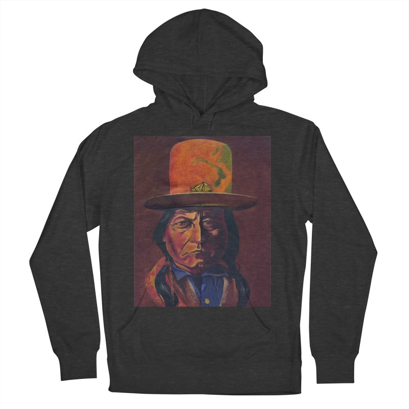 Sitting Bull (Tatanka Iyotake) Men's French Terry Pullover Hoody by philscarr's Artist Shop