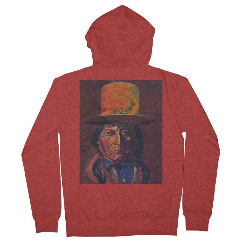 Sitting Bull (Tatanka Iyotake) Men's French Terry Zip-Up Hoody by philscarr's Artist Shop