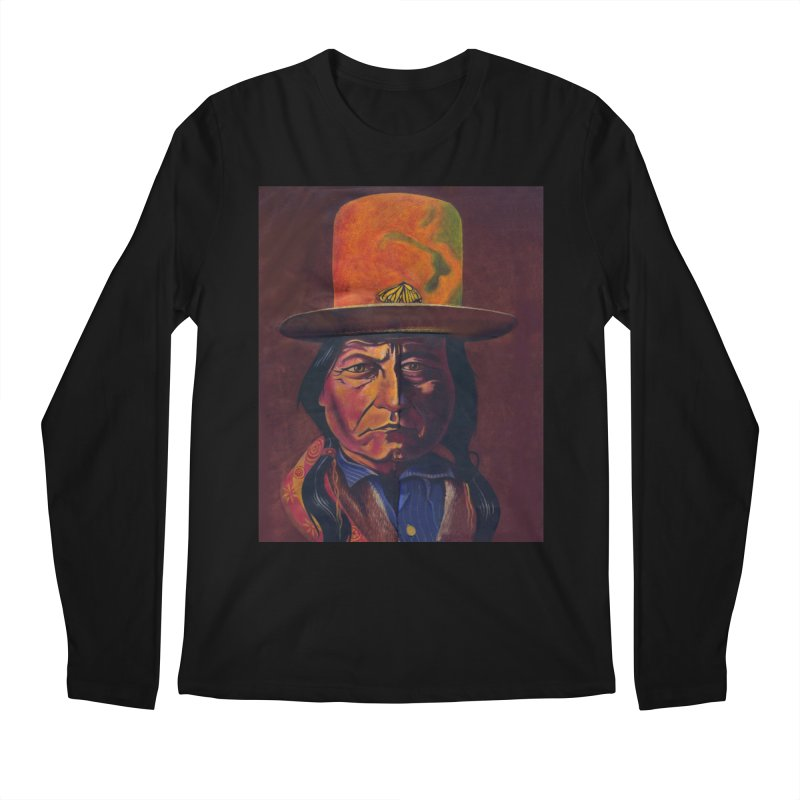 Sitting Bull (Tatanka Iyotake) Men's Regular Longsleeve T-Shirt by philscarr's Artist Shop
