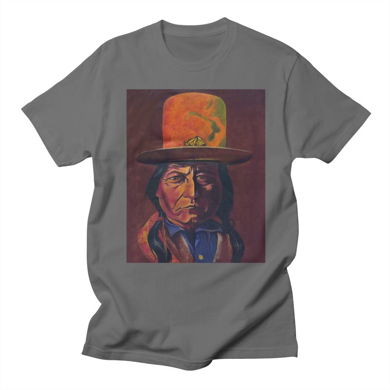 Sitting Bull (Tatanka Iyotake) Men's T-Shirt by philscarr's Artist Shop