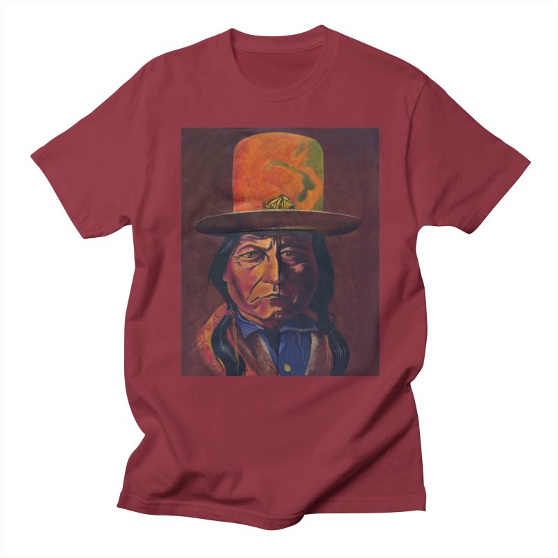 Sitting Bull (Tatanka Iyotake) Men's Regular T-Shirt by philscarr's Artist Shop