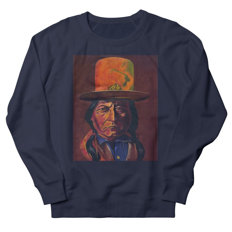 Sitting Bull (Tatanka Iyotake) Men's French Terry Sweatshirt by philscarr's Artist Shop
