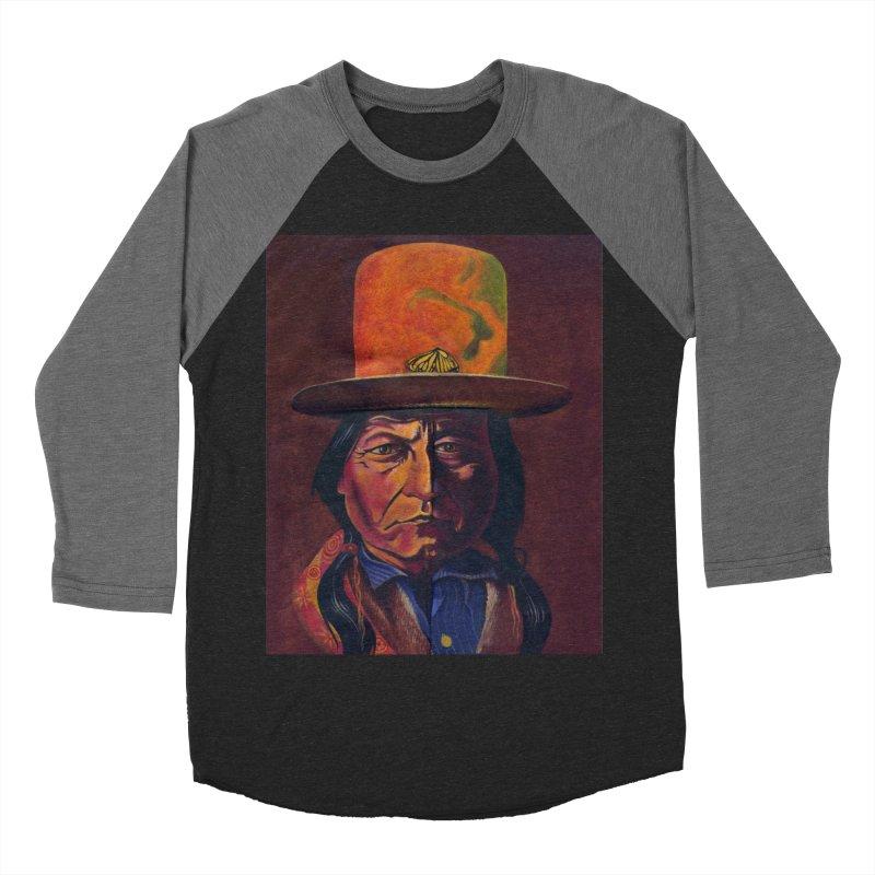 Sitting Bull (Tatanka Iyotake) Women's Baseball Triblend Longsleeve T-Shirt by philscarr's Artist Shop