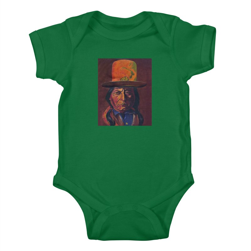 Sitting Bull (Tatanka Iyotake) Kids Baby Bodysuit by philscarr's Artist Shop
