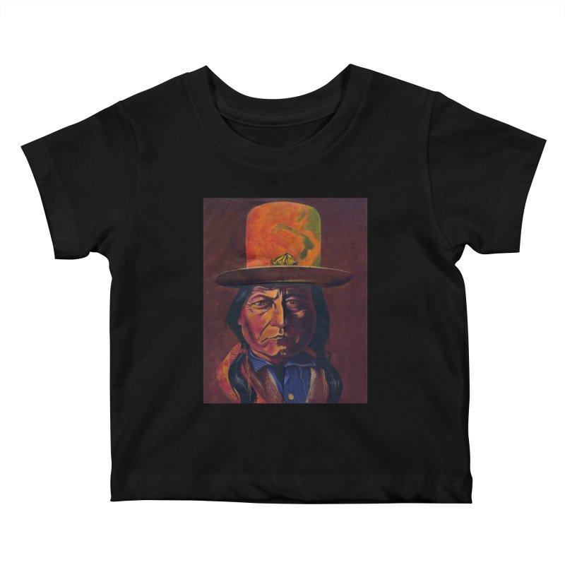 Sitting Bull (Tatanka Iyotake) Kids Baby T-Shirt by philscarr's Artist Shop
