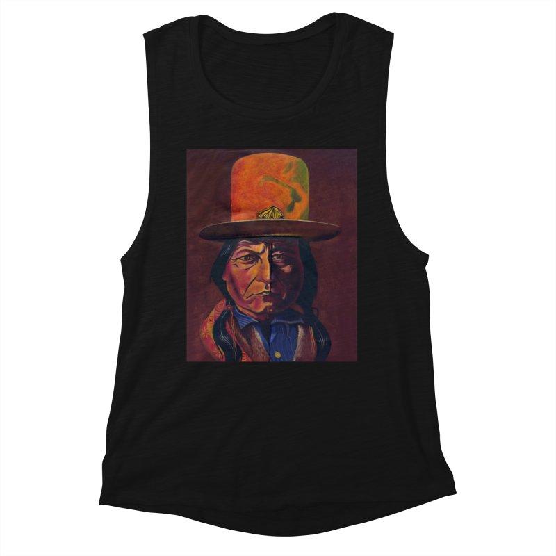 Sitting Bull (Tatanka Iyotake) Women's Tank by philscarr's Artist Shop