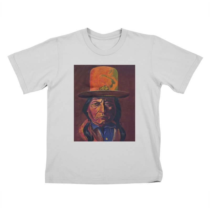 Sitting Bull (Tatanka Iyotake) Kids T-Shirt by philscarr's Artist Shop