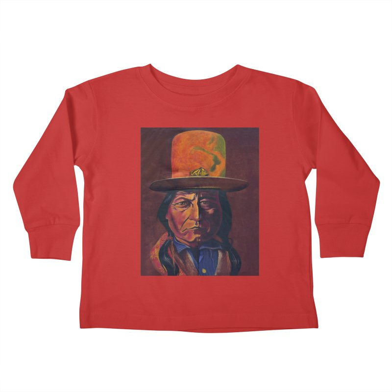 Sitting Bull (Tatanka Iyotake) Kids Toddler Longsleeve T-Shirt by philscarr's Artist Shop