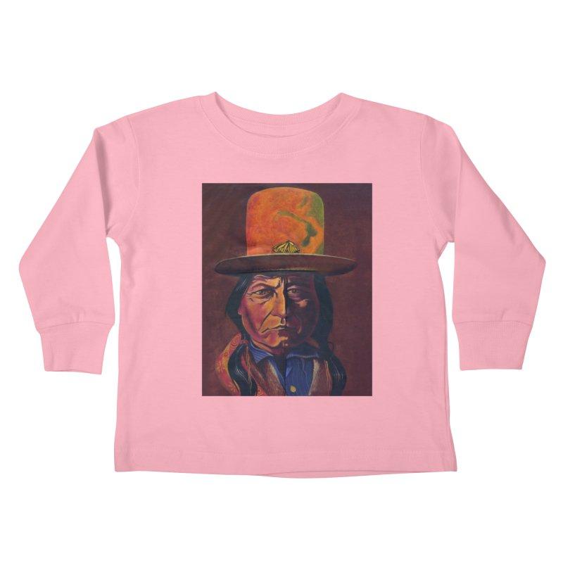 Sitting Bull (Tatanka Iyotake) Kids Toddler Longsleeve T-Shirt by philscarr's Artist Shop