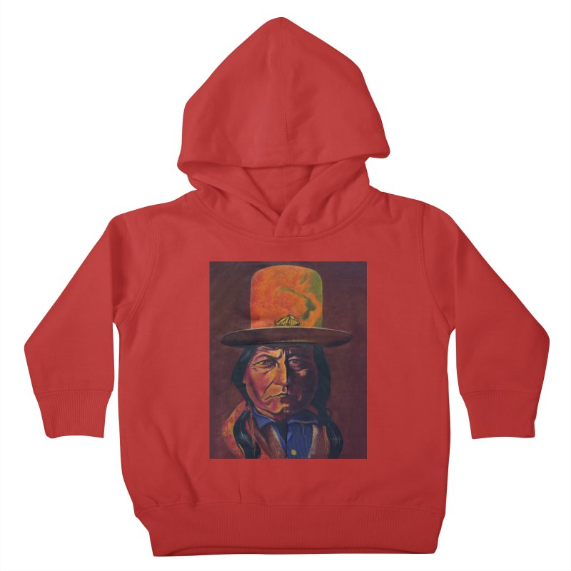 Sitting Bull (Tatanka Iyotake) Kids Toddler Pullover Hoody by philscarr's Artist Shop