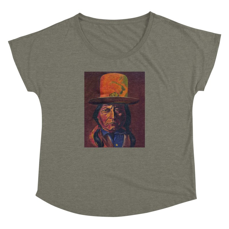 Sitting Bull (Tatanka Iyotake) Women's Dolman Scoop Neck by philscarr's Artist Shop