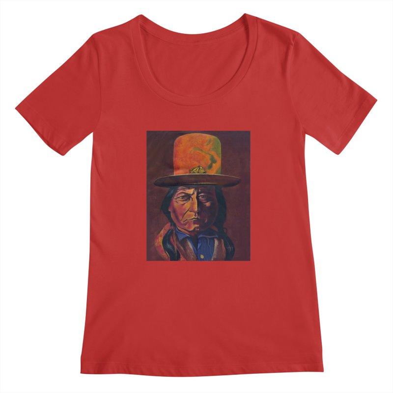 Sitting Bull (Tatanka Iyotake) Women's Regular Scoop Neck by philscarr's Artist Shop