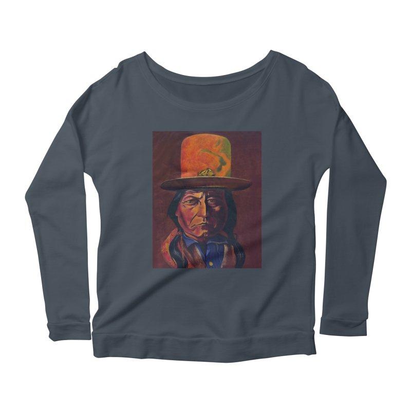 Sitting Bull (Tatanka Iyotake) Women's Scoop Neck Longsleeve T-Shirt by philscarr's Artist Shop