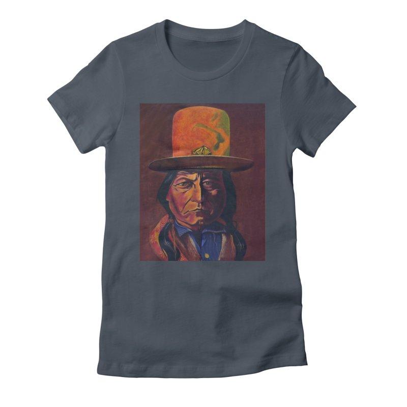 Sitting Bull (Tatanka Iyotake) Women's T-Shirt by philscarr's Artist Shop