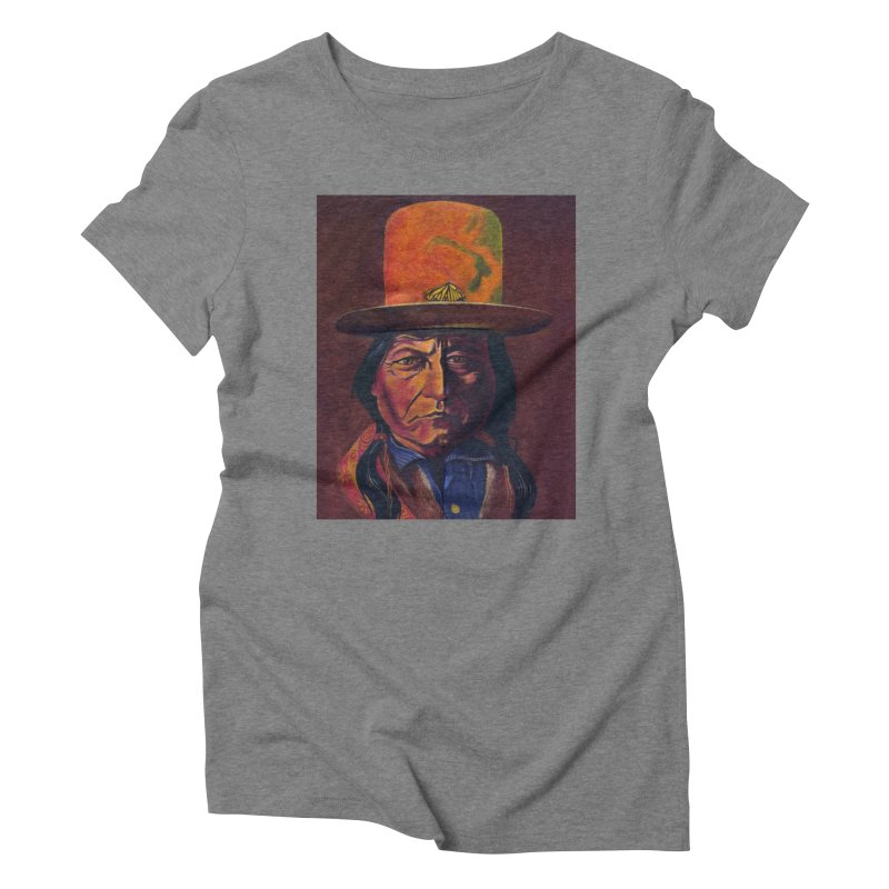 Sitting Bull (Tatanka Iyotake) Women's Triblend T-Shirt by philscarr's Artist Shop