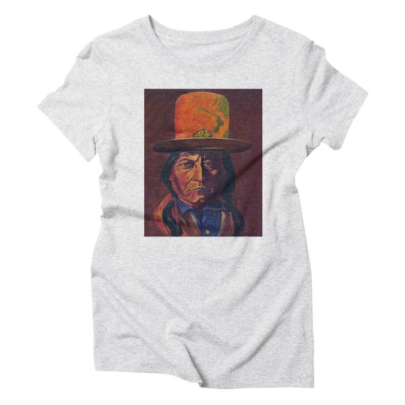 Sitting Bull (Tatanka Iyotake) Women's Triblend T-Shirt by philscarr's Artist Shop