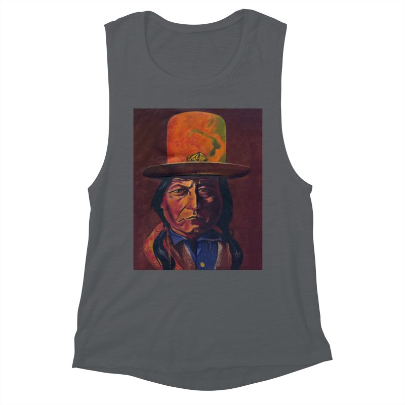 Sitting Bull (Tatanka Iyotake) Women's Muscle Tank by philscarr's Artist Shop