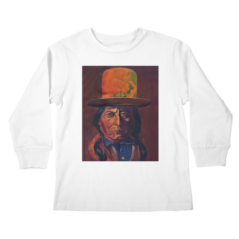 Sitting Bull (Tatanka Iyotake) Kids Longsleeve T-Shirt by philscarr's Artist Shop