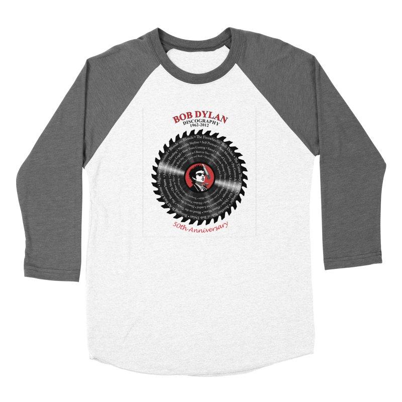 Bob Dylan Women's Baseball Triblend Longsleeve T-Shirt by philscarr's Artist Shop