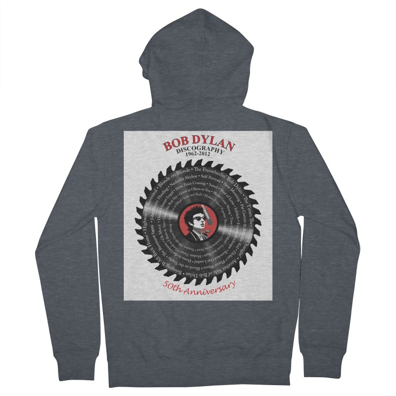 Bob Dylan Men's French Terry Zip-Up Hoody by philscarr's Artist Shop