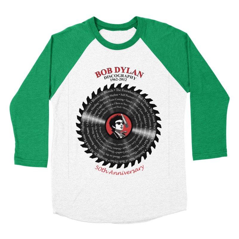 Bob Dylan Men's Baseball Triblend Longsleeve T-Shirt by philscarr's Artist Shop