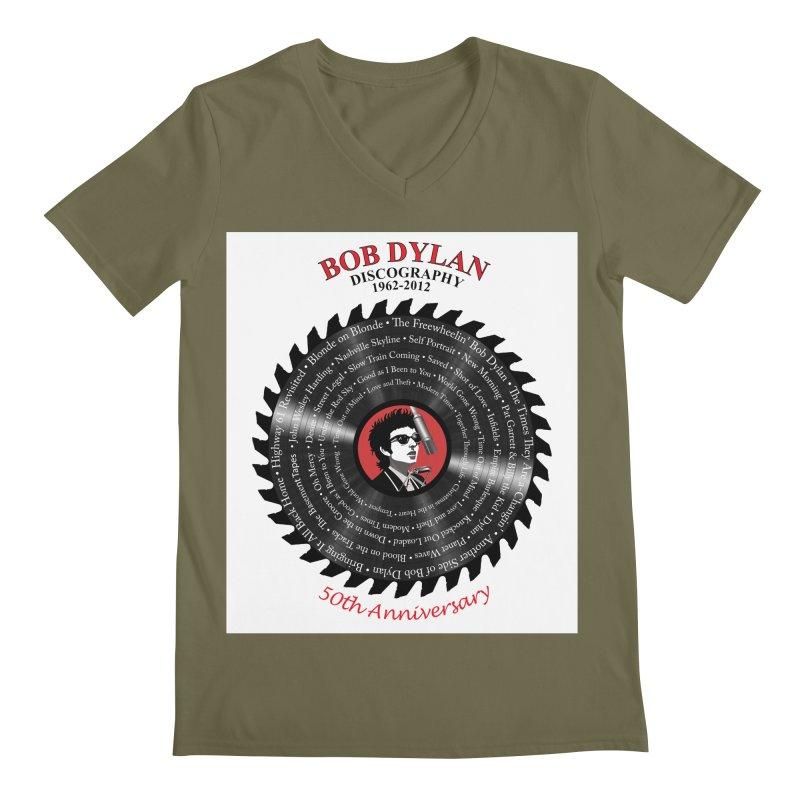 Bob Dylan Men's Regular V-Neck by philscarr's Artist Shop