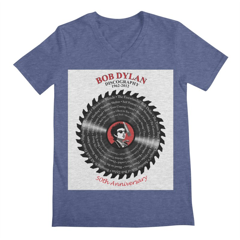 Bob Dylan Men's Regular V-Neck by philscarr's Artist Shop