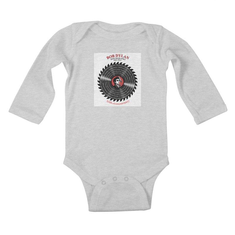 Bob Dylan Kids Baby Longsleeve Bodysuit by philscarr's Artist Shop