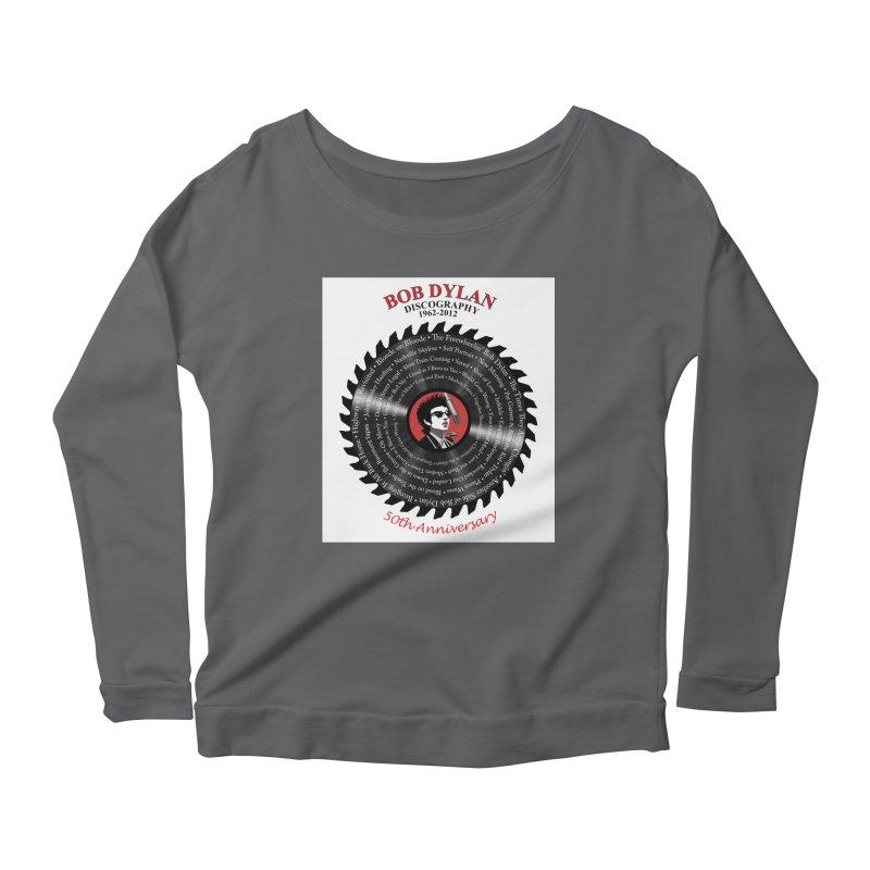 Bob Dylan Women's Scoop Neck Longsleeve T-Shirt by philscarr's Artist Shop