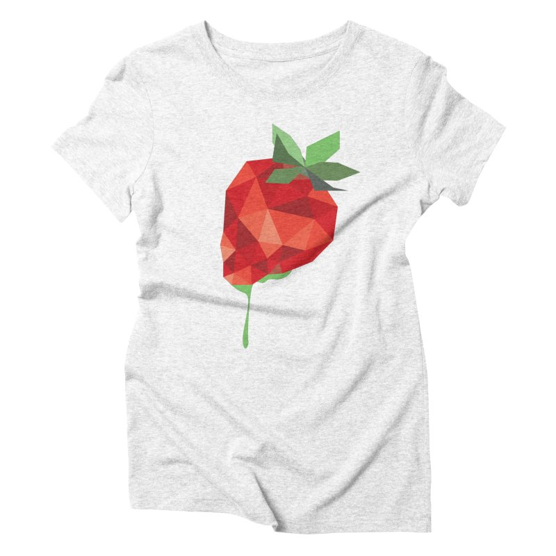 Strawberry Forever Women's Triblend T-shirt by phone's Artist Shop