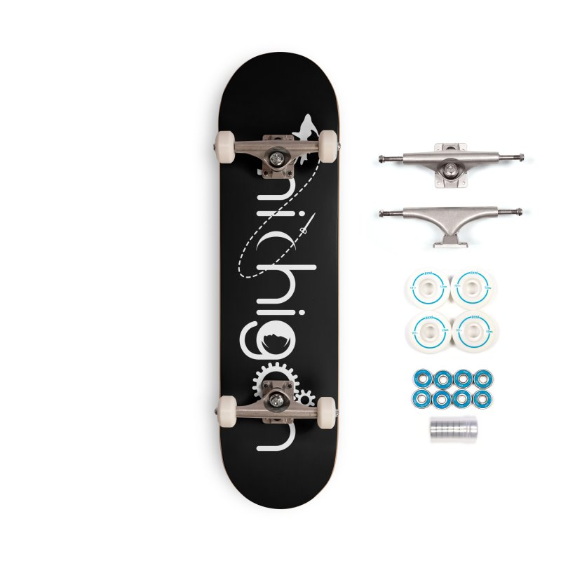 Space by State: Michigan Accessories Complete - Basic Skateboard by Photon Illustration's Artist Shop