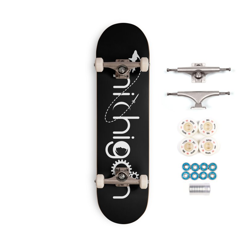 Space by State: Michigan Accessories Complete - Premium Skateboard by Photon Illustration's Artist Shop
