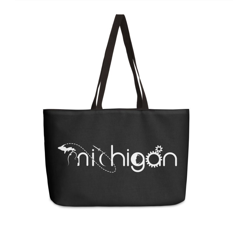 Space by State: Michigan Accessories Weekender Bag Bag by Photon Illustration's Artist Shop
