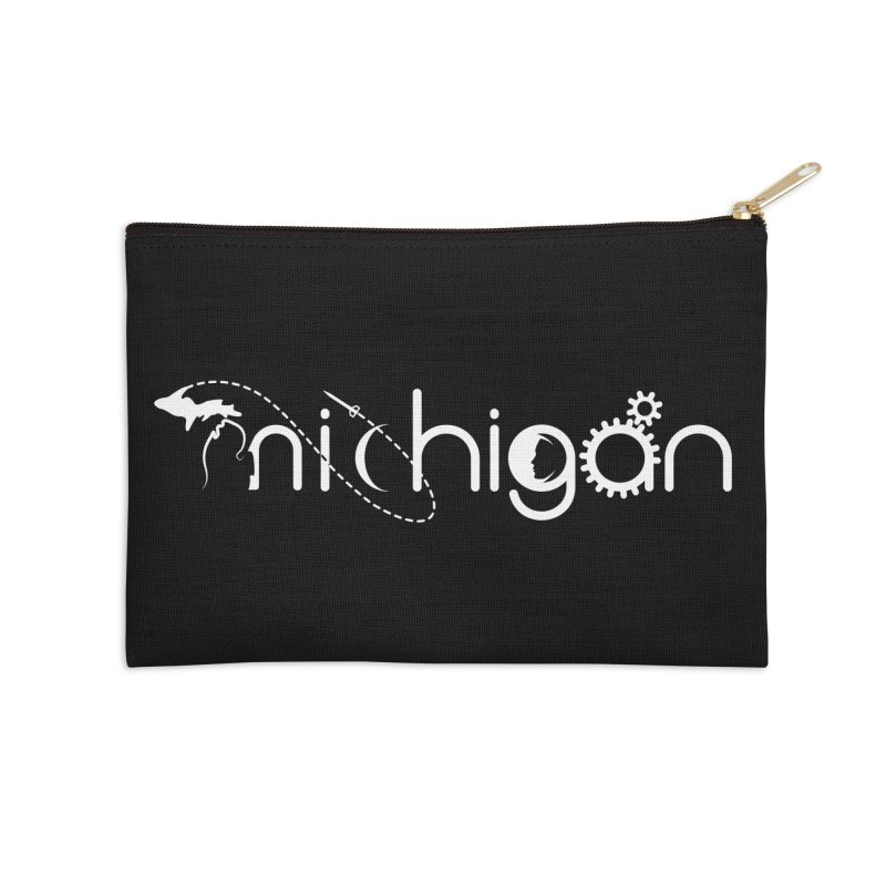 Space by State: Michigan Accessories Zip Pouch by Photon Illustration's Artist Shop