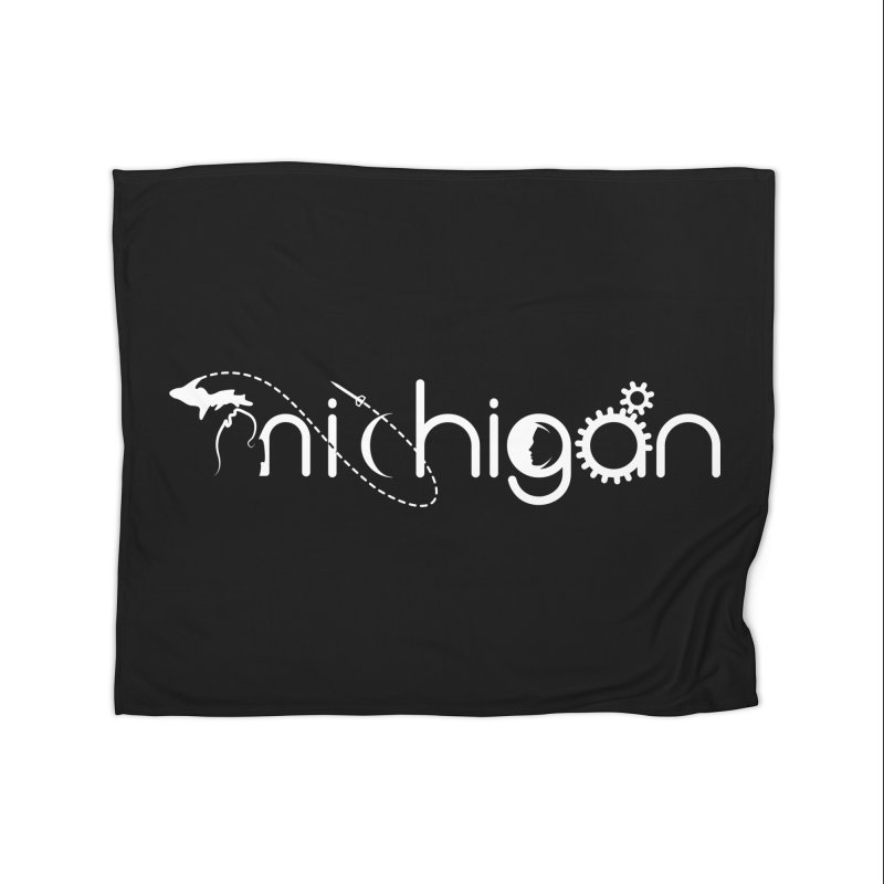 Space by State: Michigan Home Fleece Blanket Blanket by Photon Illustration's Artist Shop