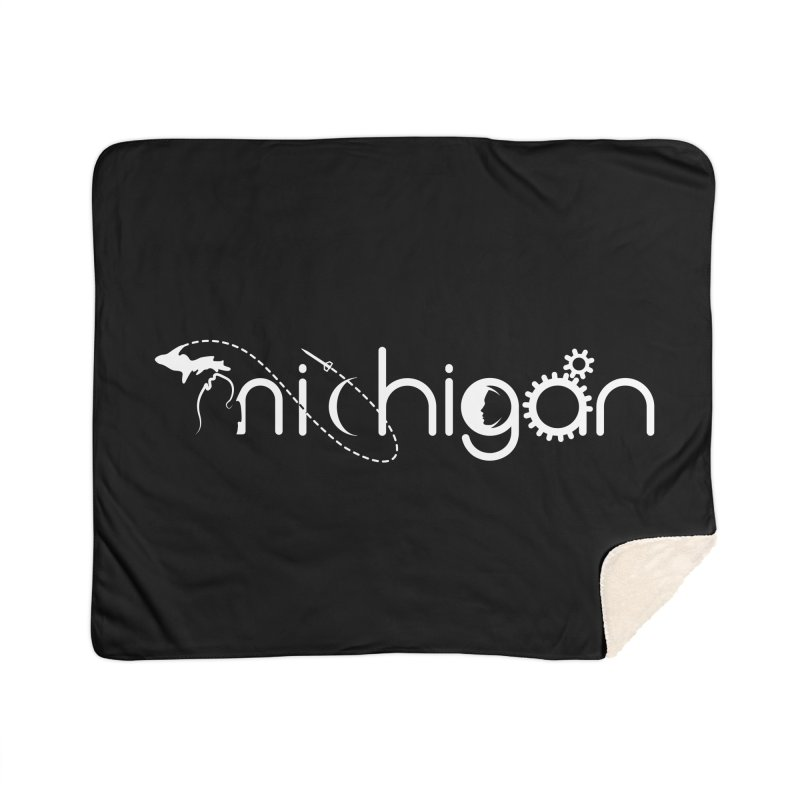 Space by State: Michigan Home Sherpa Blanket Blanket by Photon Illustration's Artist Shop