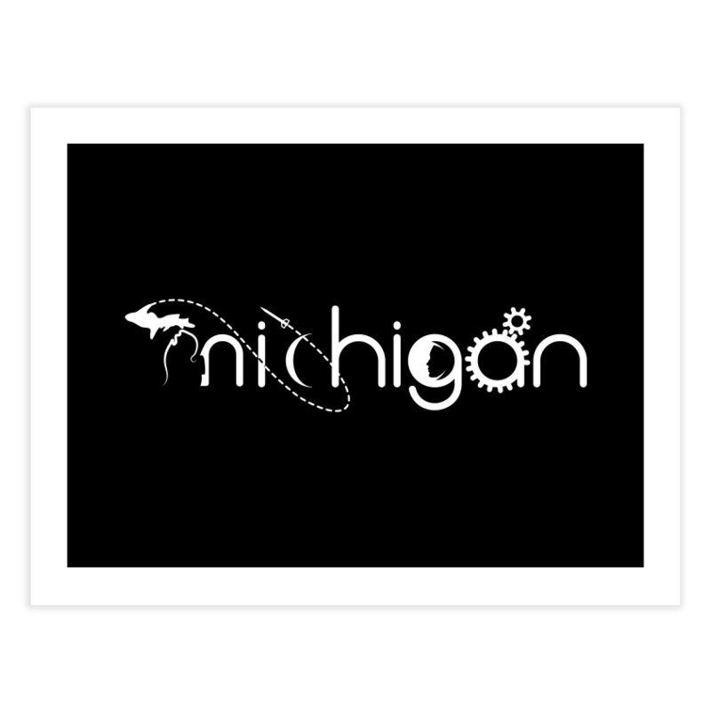 Space by State: Michigan Home Fine Art Print by Photon Illustration's Artist Shop